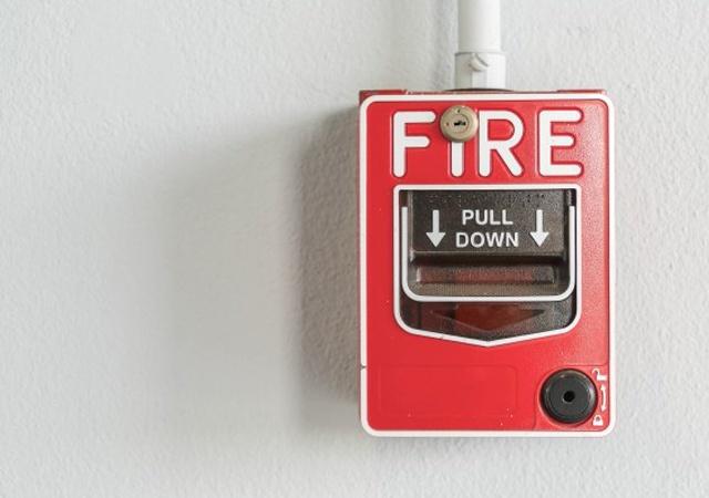 Faulty fire alarm